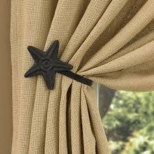 black star curtain tie back