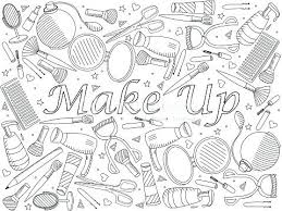 Magnificent Makeup Coloring Pages Picture Collection Coloring