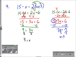 worksheet two step equations with variables on both sides