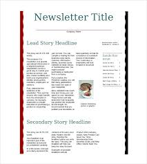 Examples Of Company Newsletters 10 Business Newsletter Templates Free Sample Example