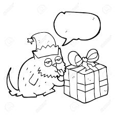 フリーハンド描画音声バブル漫画猫のプレゼント