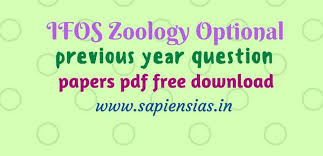 Ifos Zoology Optional Previous Year Question Papers Pdf Free