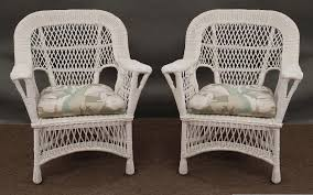 image of chair white wicker patio furniture