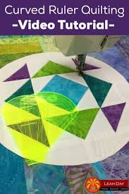 10 best Sewing and Quilting Tips & Tricks images on Pinterest ... & Learn how to quilt beautiful curves with ruler foot quilting! In this video  tutorial with Leah Day you'll see her experiment with two different curved  ... Adamdwight.com