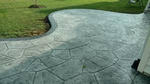 c stamped concrete patio classique