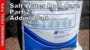 Pool Salt Chart Salt Water Pool Care Part Two Adding Salt