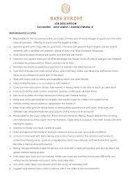 waitress description for resumecocktail waitress resume job description