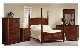 four poster bedroom furniture. Amish Johnson Bedroom Set With 4 Poster Bed In Rustic Cherry Four Furniture U