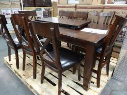 costco patio furniture dining sets. dining tables, captivating brown rectangle rustic wooden costco table stained ideas: classic patio furniture sets