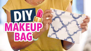 diy makeup bag easy beginner s sewing project handmade