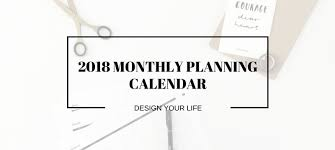 monthly planner free download free download 2018 monthly planning calendar key dates of kin