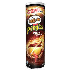 Pringles Hot and Spicy Stapelchips mit scharf