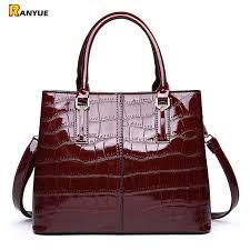 red black patent leather handbag luxury crocodile tote bag shoulder bags handbags women famous brands designer sac a main femme j190426 leather tote leather