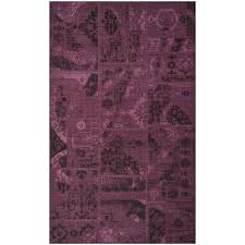 safavieh palazzo black purple 5 ft x 8 ft area rug