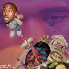 Graduation Cover Photo Graduation Cover But Its Composed Of Kanyes Head Only Kanye