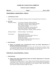 CRUMBLING FOUNDATIONS COMMITTEE TOWN OF SOUTH WINDSOR Minutes Page 1 June  1, 2016