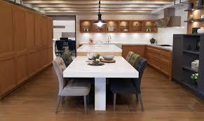 kitchen wooden furniture. Kitchen With Pine Wood Furniture White Silestone Table And Chairs Lined Soft Velvet Wooden