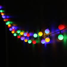 save 50 solar outdoor string lights gdealer 31ft 50 led waterproof ball lights