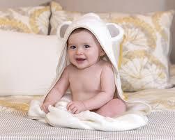 Oversized Organic Hooded Baby Bath Towel & Washcloths Set ︳Girl or ...