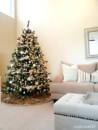 DIY Christmas Tree Decor. Christmas Tree Decorated Silver And Gold ...