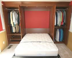 Bed in closet Folding Clever Murphy Bed Setup With Closet Space organize closet Pinterest Clever Murphy Bed Setup With Closet Space organize closet