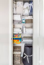 Linen closet organization ideas for bedding and sheets