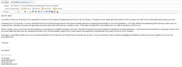 Thank You Letter Example For Second Interview Icover Thank You