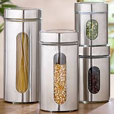 Round Glass Storage Jars, Sets of 2 - Storage Containers modern-food- containers-and-storage