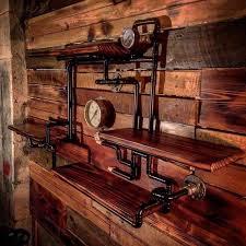 retro industrial rustic hardwood