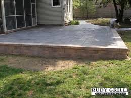 Great Raised Concrete Patio Ideas Rudy Grilli Concrete Work Stamped