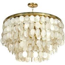 capiz shell chandelier captivating shell chandelier at with remodel 1 diy faux capiz shell chandelier