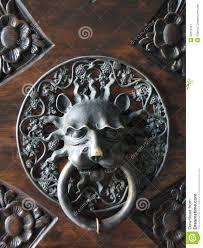 Decorative Gilded Lion Head Door Knob Stock Image - Image: 32279447