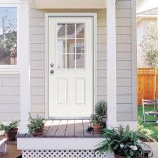 Image of: White Modern Exterior Doors