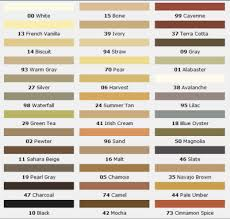 Grout Colors Chart Mapei Grout Color Easy Renovate