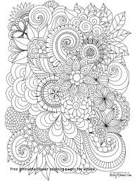 20 Unique Flower Coloring Pages For Adults Coloring Page