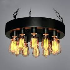 chandeliers down lighting chandelier industrial vintage style in black finish with bulb lights chandeliers uk