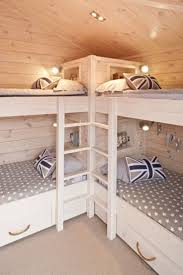 Bunk Room...what a great use of space for a cabin. Also