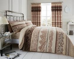 reverie cream brown double king super king size quilt duvet cover sets