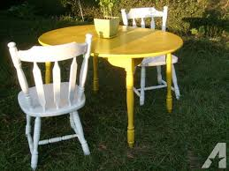 shabby chic yellow and white dining room table and chair set for sale chic dining room chic dining room table
