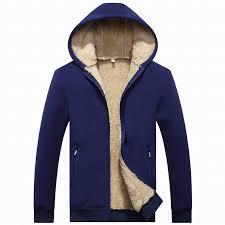 men fleece jacket hoo zipper sherpa lined sweatshirt fashion warm winter men clothes outerwear coat plus asian size l xl l 3xl 4xl jacket outerwear
