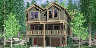 house front color elevation view for d 547 narrow townhouse plans duplex house plans