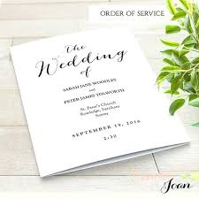 printable wedding program template fan programs editable