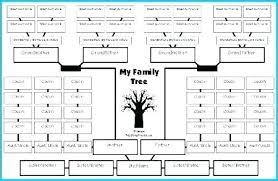 Genealogy Spreadsheet Template Printable Family Tree Template For Preschool Templates