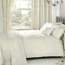 free everdean cream embroidered bedding set