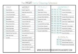Examples Of Cleaning Schedules Daily Weekly Monthly Checklist Template Cleaning Schedule