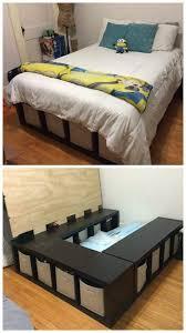 diy storage bed. How To Make A Shelf Storage Bed » ISeeiDoiMake Diy