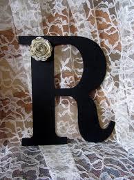 black letter r wall art decor wood