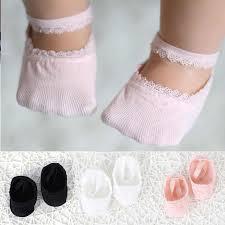 <b>3 Pairs</b>/<b>Lot</b> Lace Flower <b>Newborn Baby Socks Cotton</b> Anti Slip Kids ...