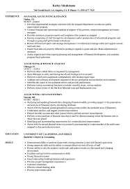 Accounting Finance Resume Samples Velvet Jobs