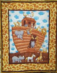 Panel Baby Quilts Handmade Panel Baby Quilts Panel Quilts & B 238 Noah's Ark quilt image. Click for a larger picture Adamdwight.com